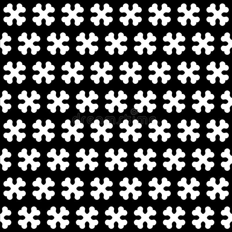 Kość Czarny I Biały Bezszwowy wzór royalty ilustracja