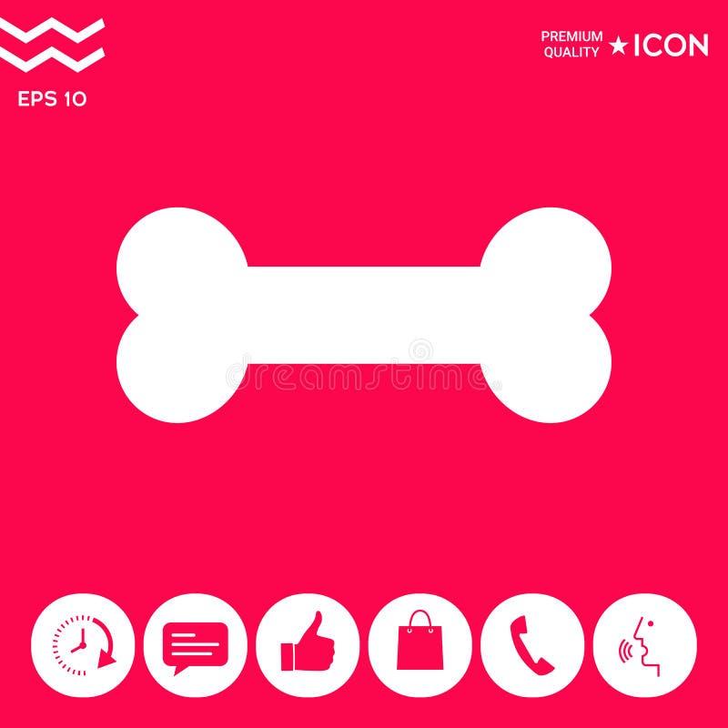Kość symbolu ikona ilustracja wektor
