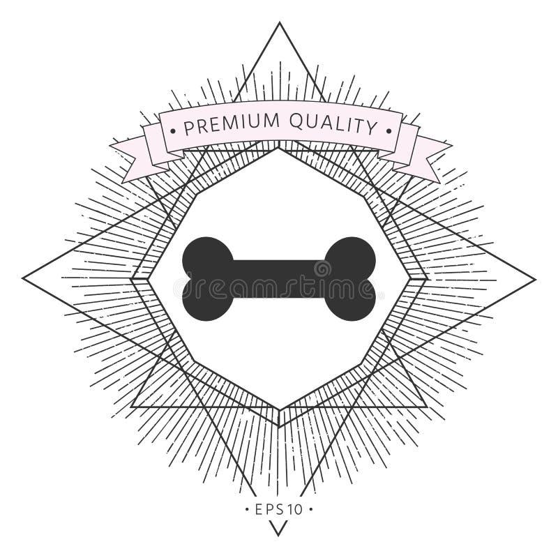 Kość symbolu ikona ilustracji
