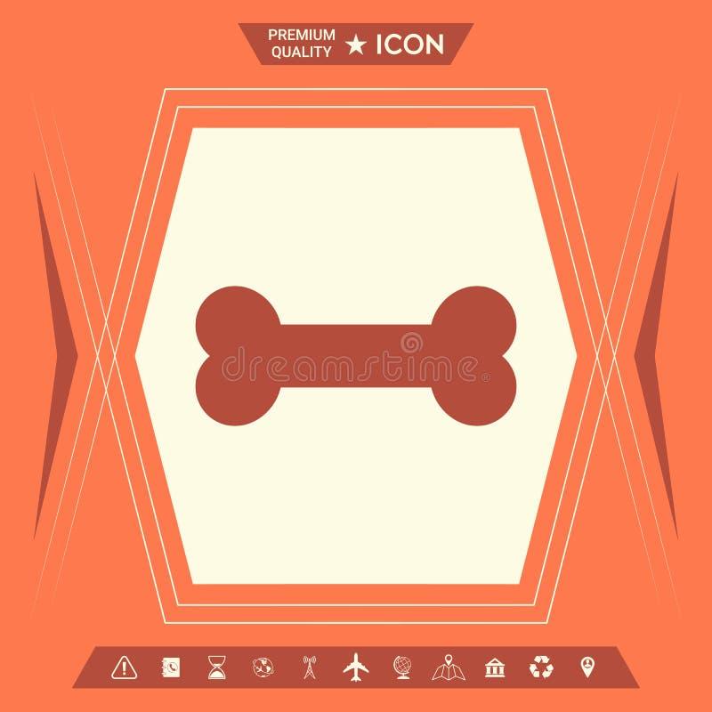 Kość symbolu ikona royalty ilustracja