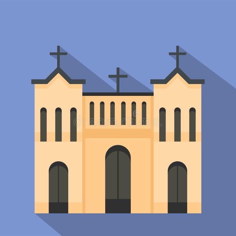 Kośćiół Protestancki ikona, mieszkanie styl ilustracji