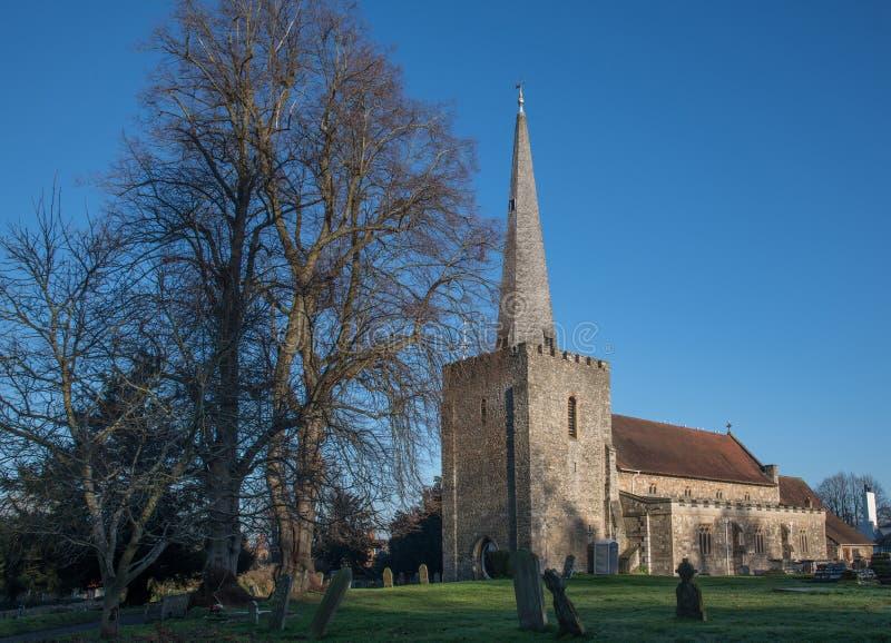 Kościół św. Marii w zachodniej Malling Kent England zdjęcia stock