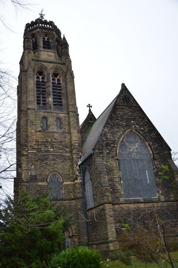 kościół św. Pawła w heaton moor zdjęcie stock