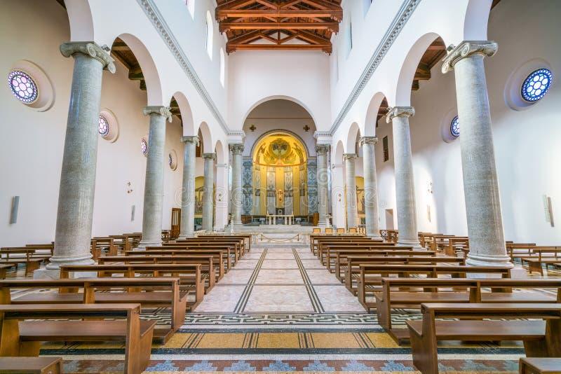 Kościół Świątobliwy Anselmo na Aventine wzgórzu w Rzym, Włochy obraz stock