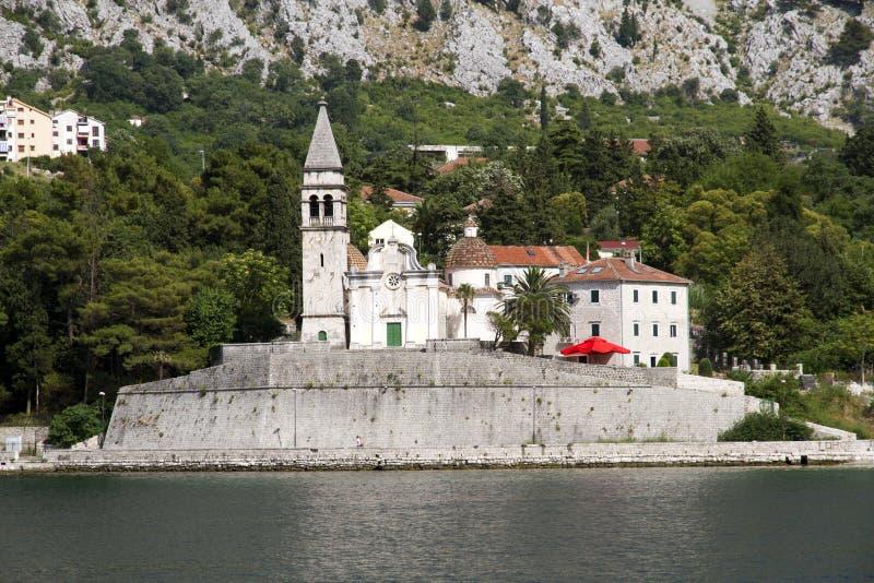 Kościół Świątobliwy Matthew w Dobrota, Montenegro zdjęcie stock