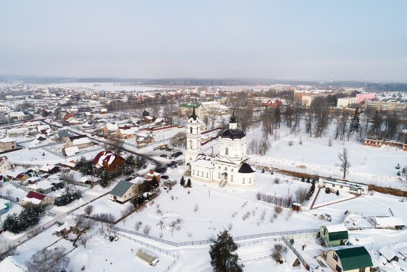 Kościół Świątobliwy Nicholas w Klyonovo wiosce, Podolsk okręg, Moskwa region, Rosja obrazy royalty free