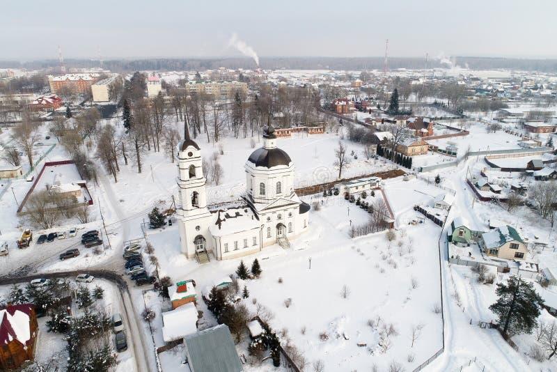 Kościół Świątobliwy Nicholas w Klyonovo wiosce, Podolsk okręg, Moskwa region, Rosja zdjęcie stock
