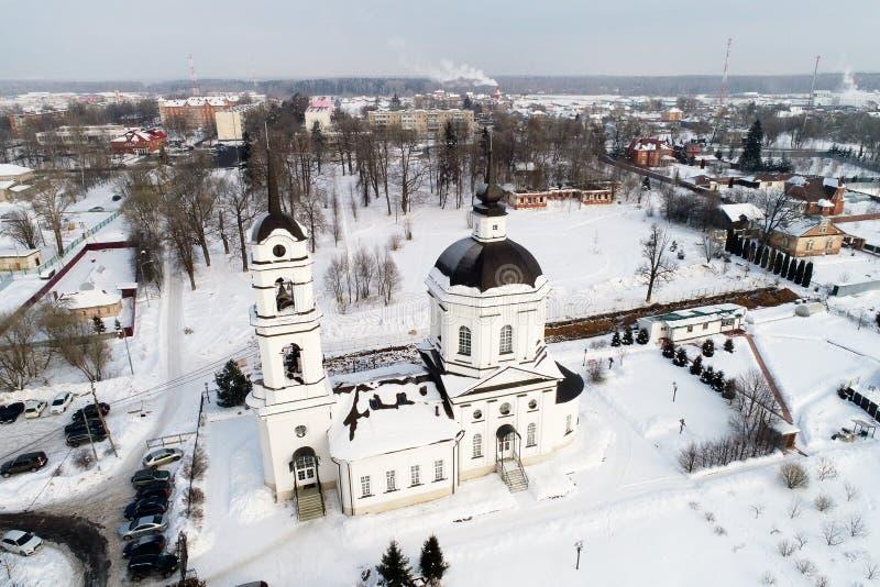 Kościół Świątobliwy Nicholas w wiosce Klyonovo, Podolsk okręg, Moskwa region fotografia royalty free