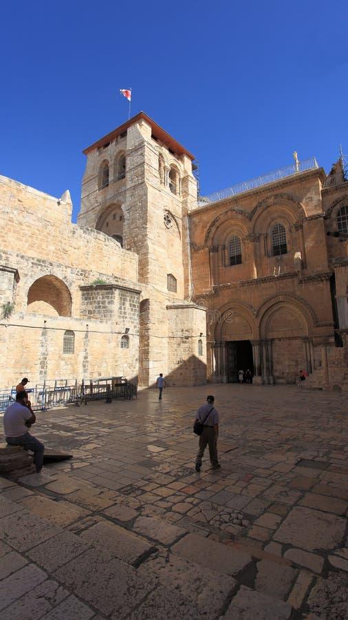 Kościół Świętego Sepulchre podwórze obraz royalty free