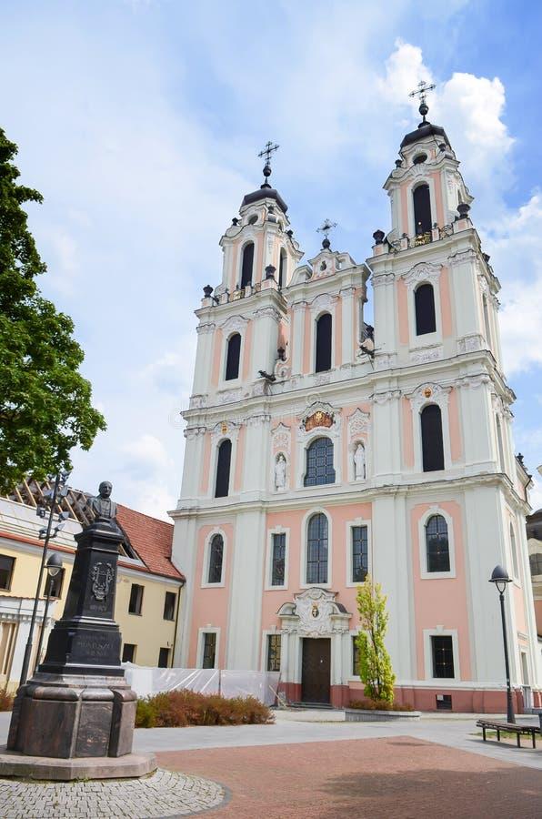 Kościół święty Catherine Jeden wiele piękni kościół w Lithuania obrazy stock