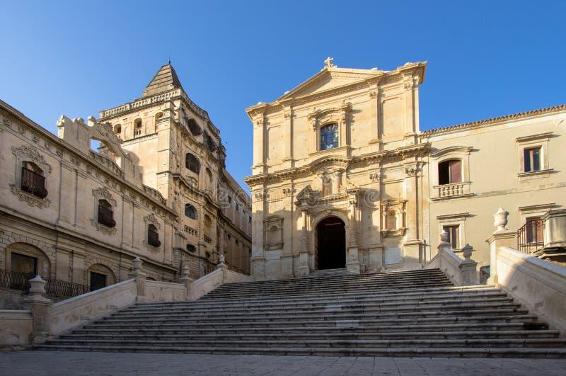 Kościół święty Francis, Noto, Włochy obrazy royalty free