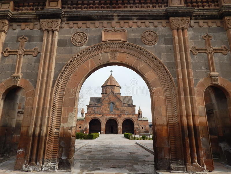Kościół święty Gayane w Armenia (7th wiek) obraz stock