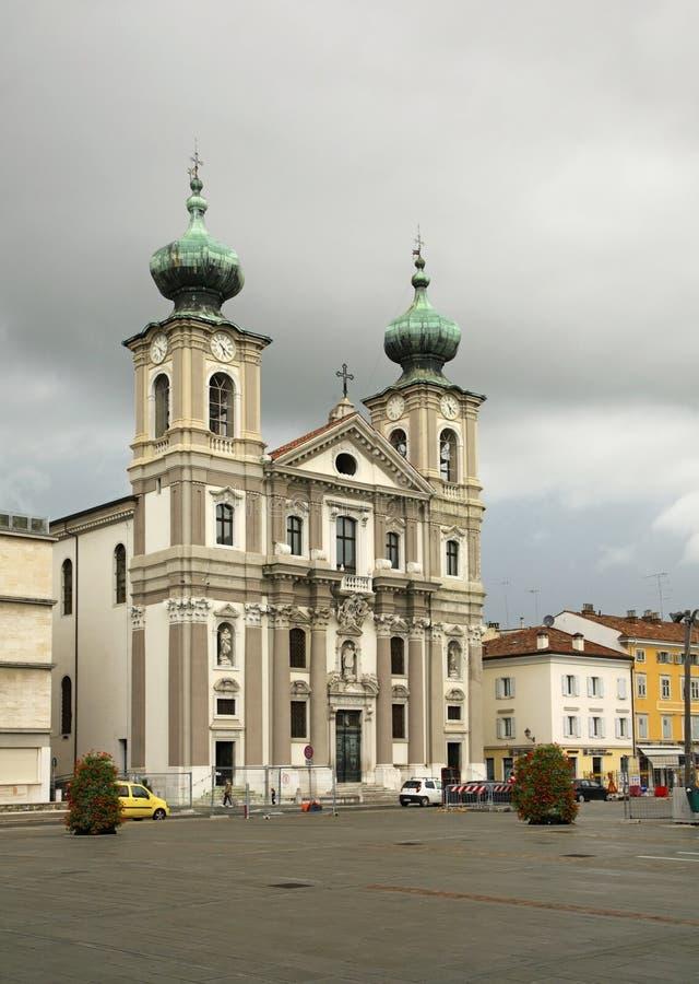 Kościół święty Ignatius w Gorizia Włochy fotografia royalty free
