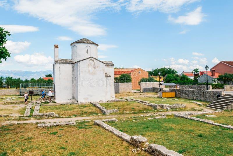 Kościół Święty krzyż jest Chorwackim przedromańskim kościół katolickim zapoczątkowywa od 9th wieka w Nin fotografia stock
