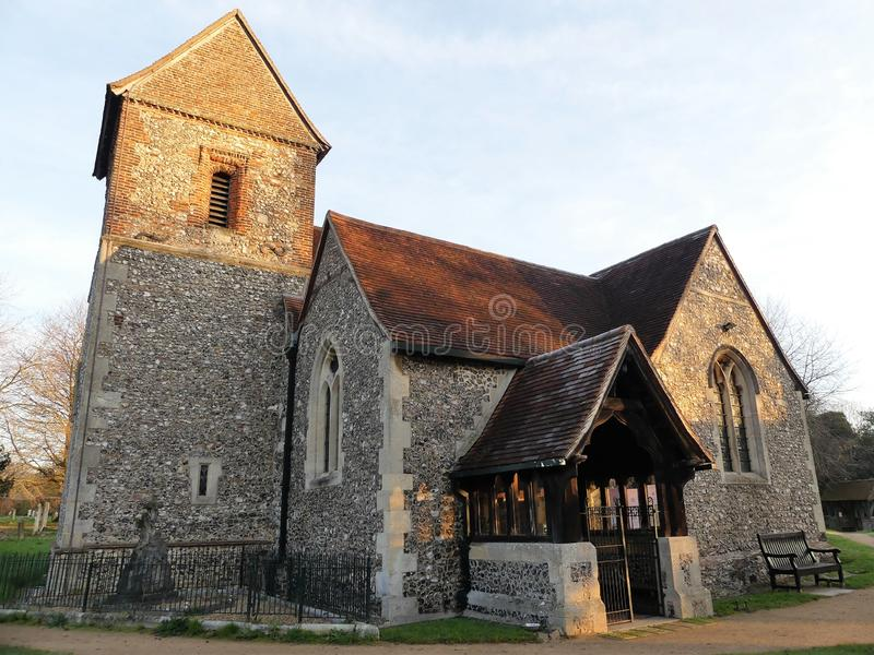 Kościół Święty krzyż, Sarratt, Hertfordshire fotografia stock