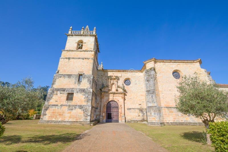 Kościół święty Martin De Objeżdżający w Ciguenza Cantabria obrazy royalty free