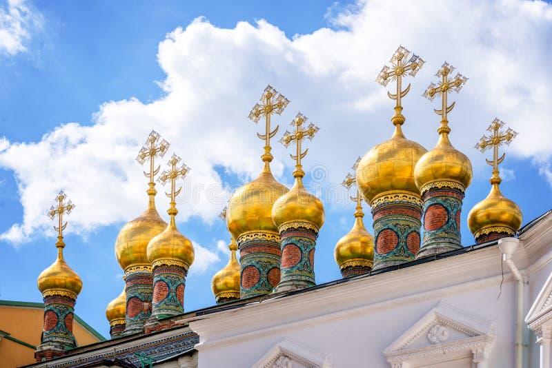 Kościół świadkowanie kontusz na katedra kwadracie, Moskwa Kremlin, Rosja zdjęcie royalty free