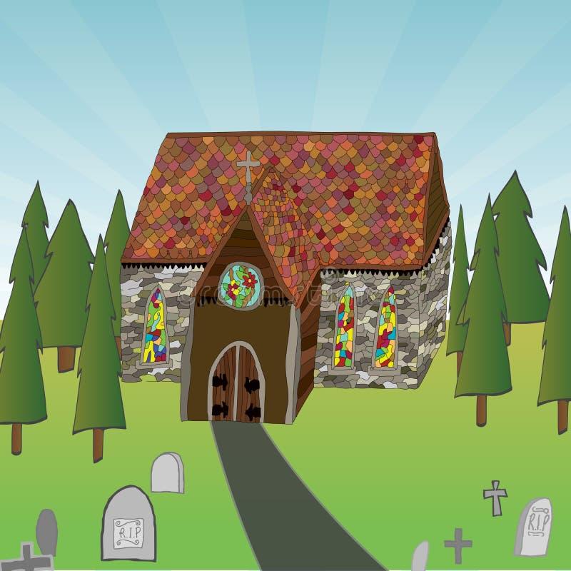 kościół. royalty ilustracja