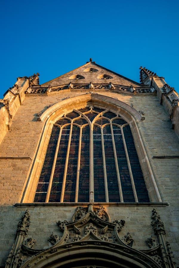 Kościół Aalst, Belgia, piękne popołudnie zdjęcia stock
