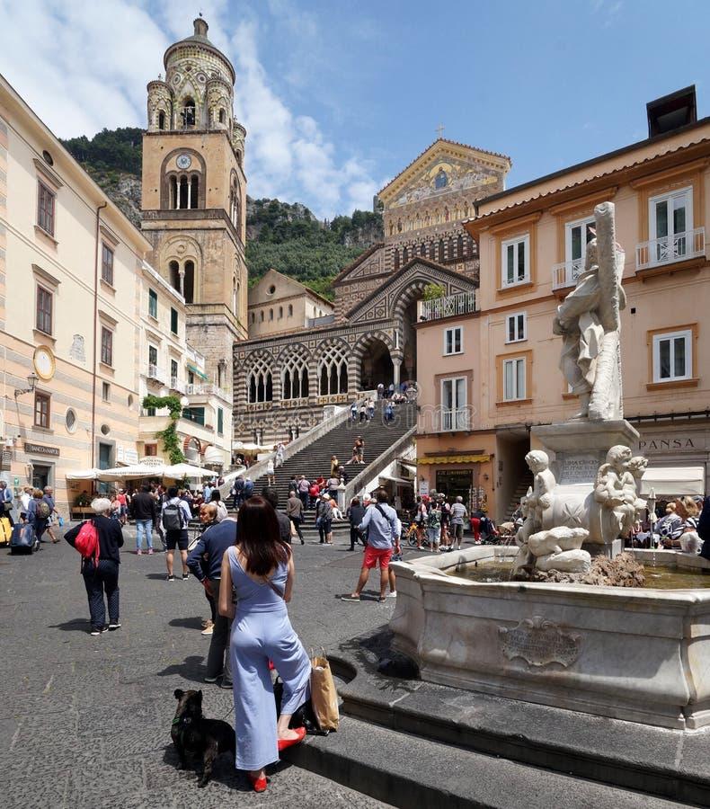 Kościół Amalfi, Włochy zdjęcie royalty free