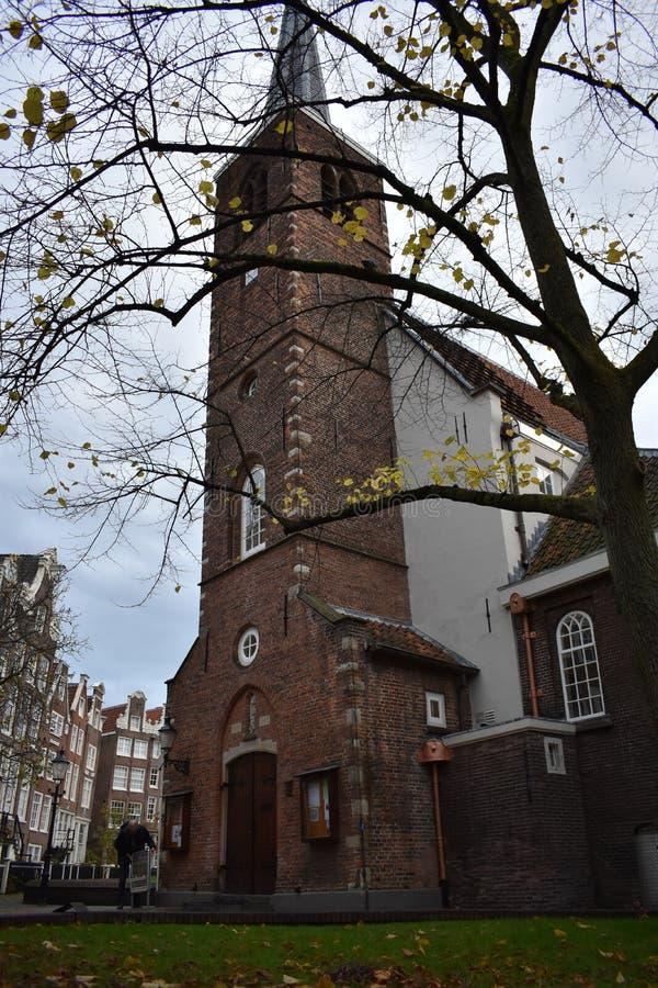 Kościół Anglikański przy Begijnhof w Amsterdam obrazy stock