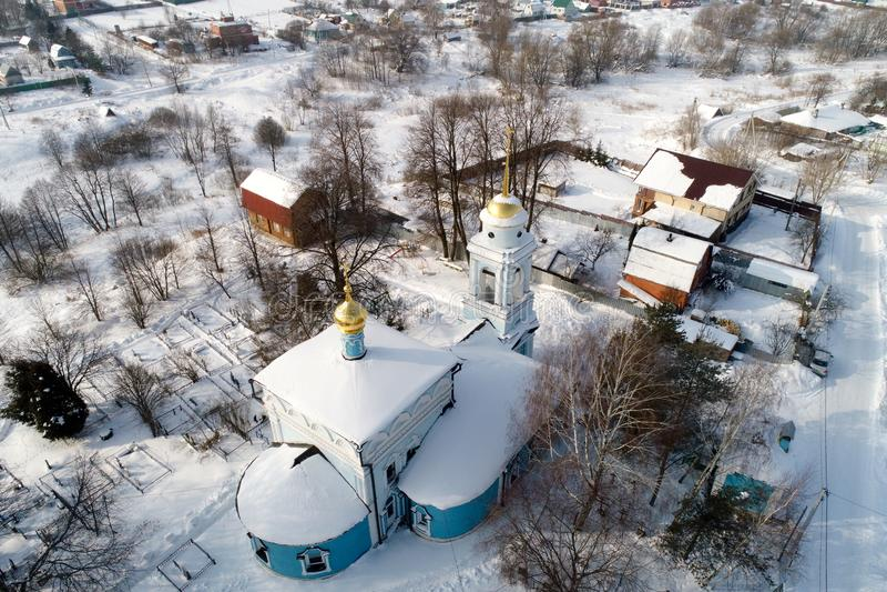 Kościół Annunciation Święta dziewica w wiosce Salkovo, Podolsk okręg, Moskwa region, Rosja zdjęcie stock