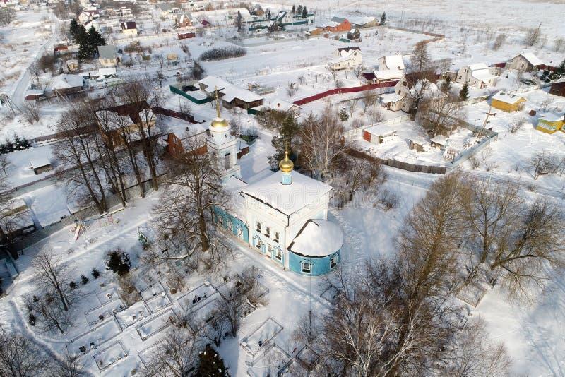 Kościół Annunciation Święta dziewica w wiosce Salkovo, Podolsk okręg, Moskwa region, Rosja obrazy stock