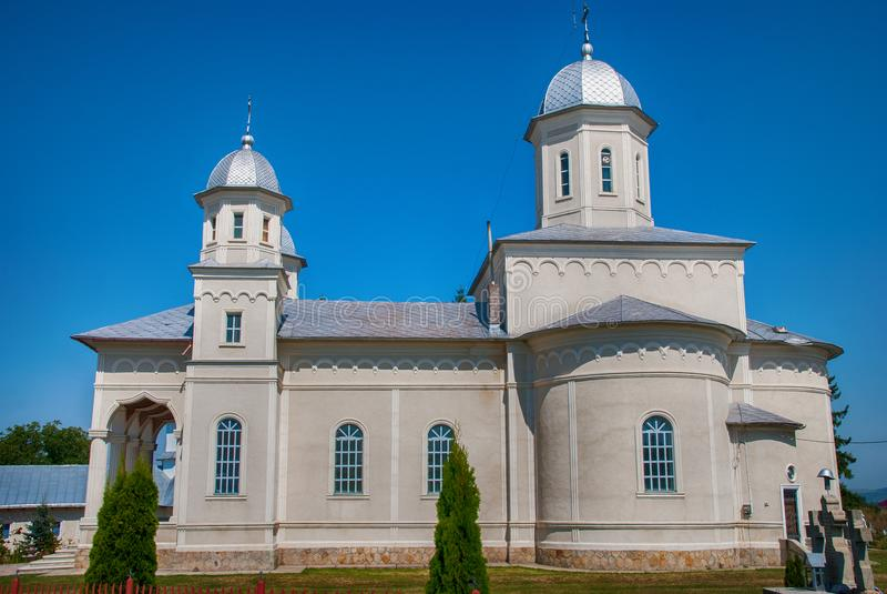 Kościół archengles Michael i Gabriel, Brusturi, Rumunia fotografia royalty free