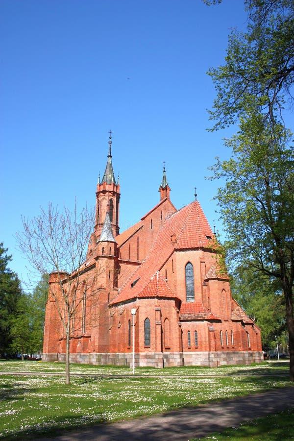 Kościół Błogosławiony maryja dziewica w Druskininkai Lithuania obrazy stock