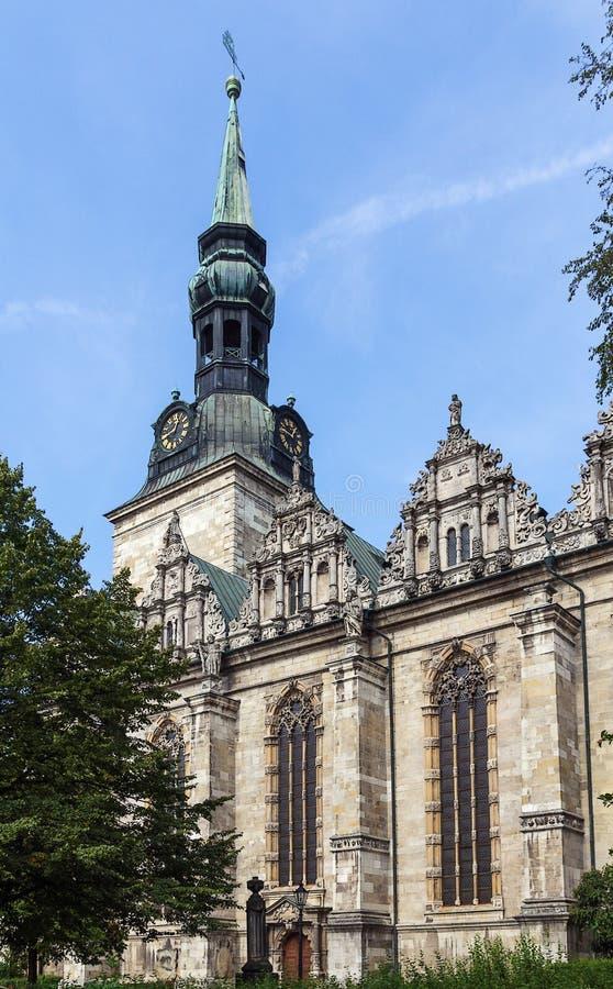 Kościół Beatae Mariae Virginis, Wolfenbuttel, Niemcy obraz stock