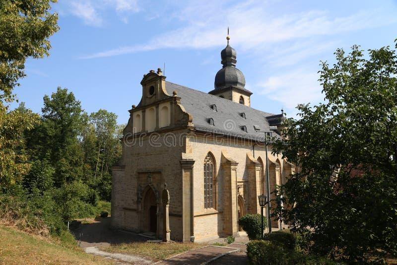 Kościół Bergkirche w Laudenbach « obrazy stock