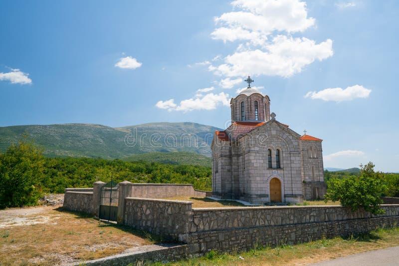 Kościół blisko Cetina źródła wody wiosny w Chorwacja fotografia royalty free