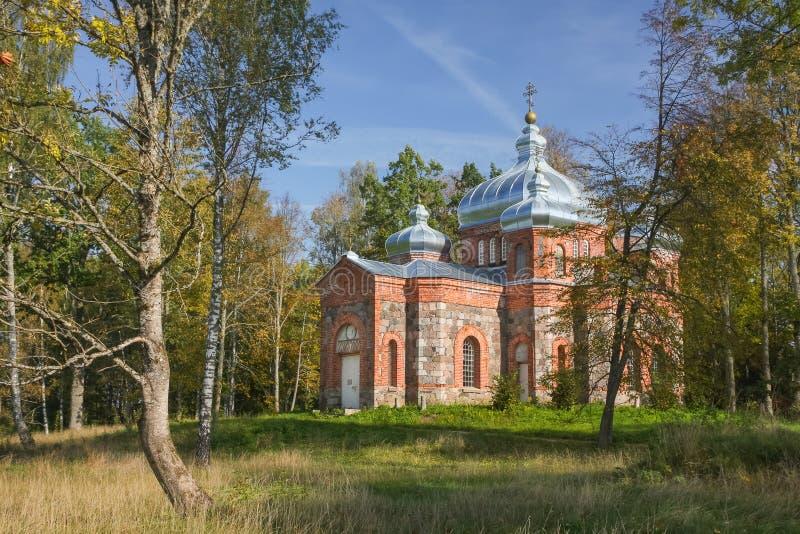 Kościół blisko Sangaste zdjęcie stock