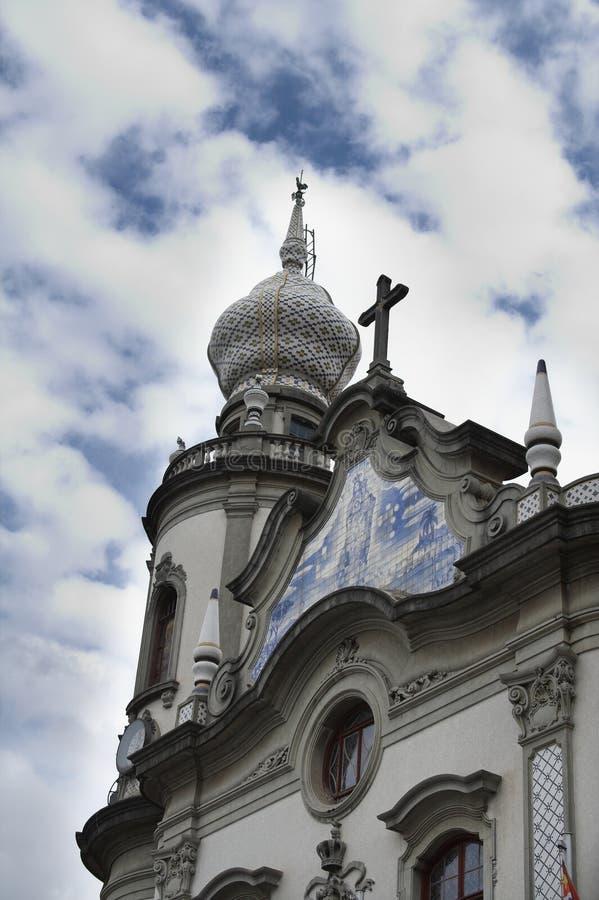 kościół brasil szczegół sprawia, nossa senhora zdjęcia stock