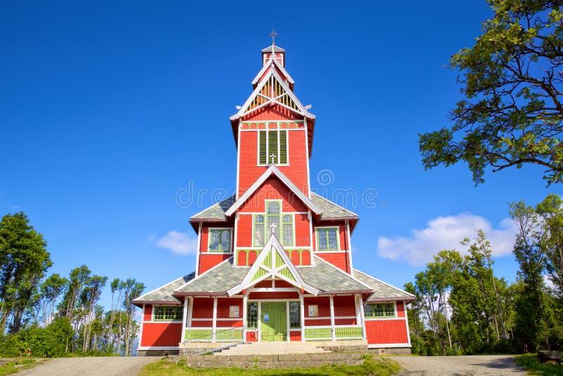 Kościół Buksnes w Lofoten obraz stock