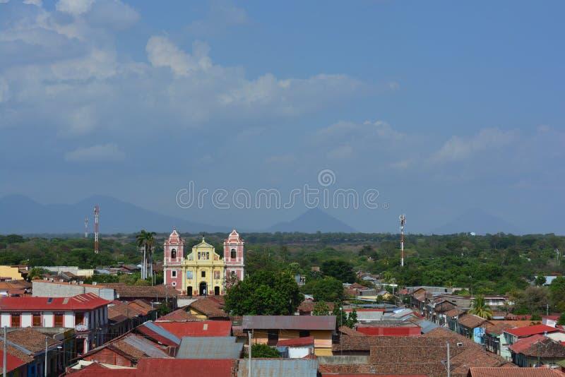 Kościół Calvario w Leon, Nikaragua obrazy stock