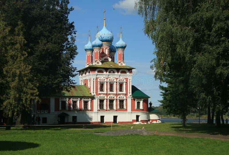 Kościół Carewicza Dmitrija w sprawie krwi w Ugliczu, Rosja zdjęcia stock