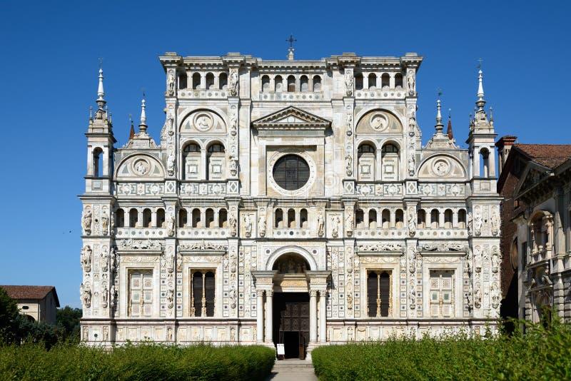 Kościół Certosa di Pavia zdjęcia stock