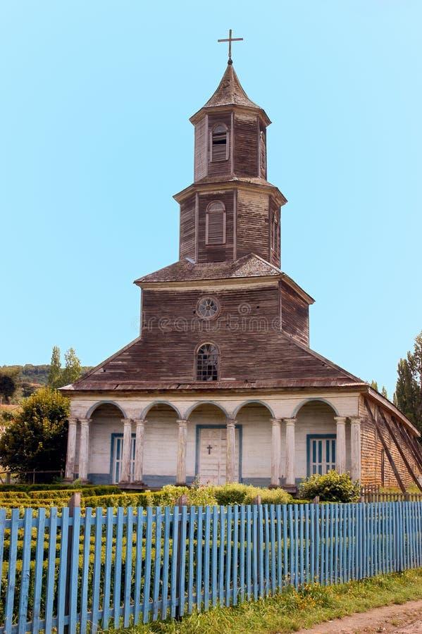 Kościół Chiloe, Nercon. obraz royalty free