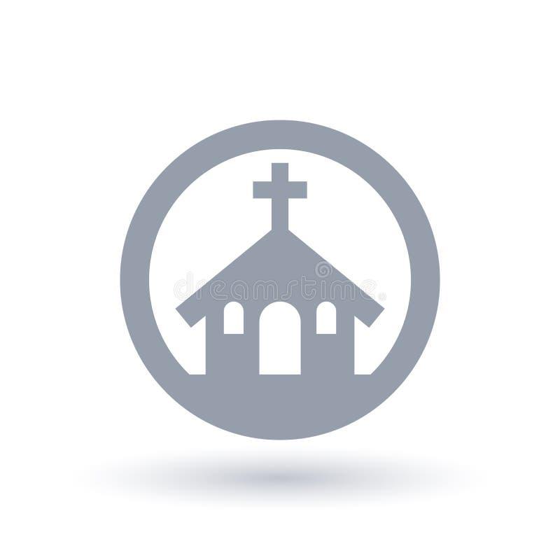Kościół Chrześcijański ikona Religijny budynku znak royalty ilustracja