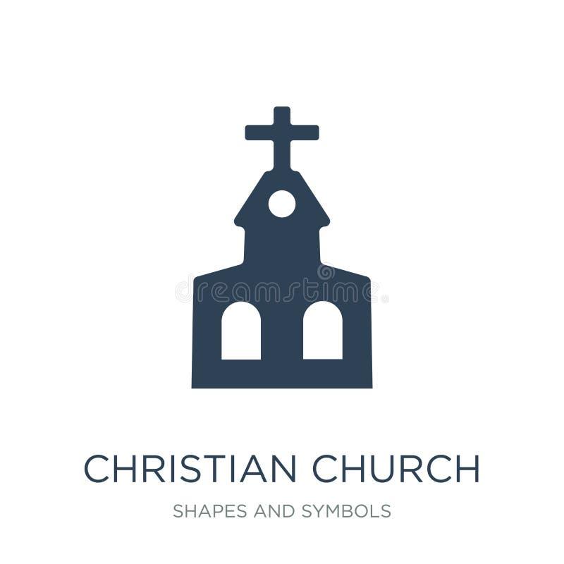 kościół chrześcijański ikona w modnym projekta stylu kościół chrześcijański ikona odizolowywająca na białym tle kościół chrześcij ilustracji