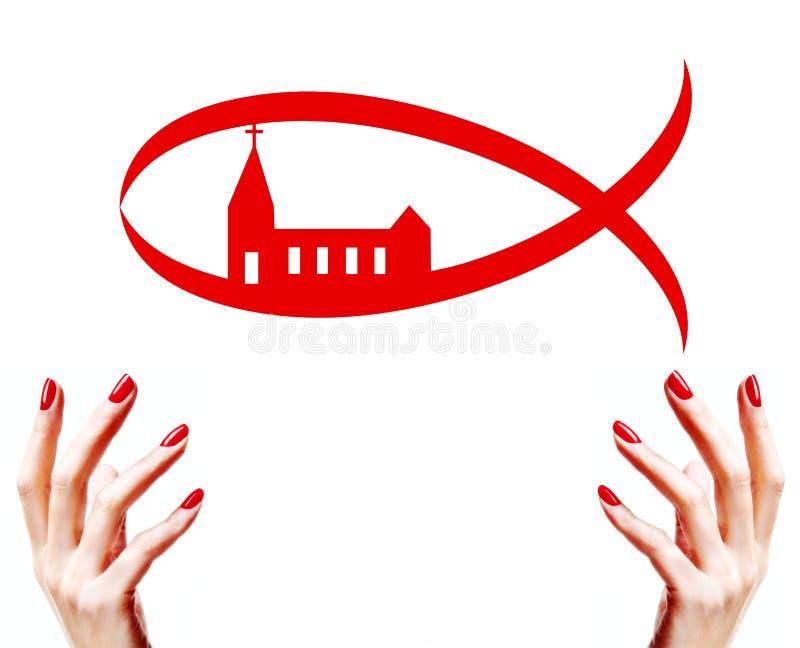 kościół chrześcijański ryba ilustracja wektor