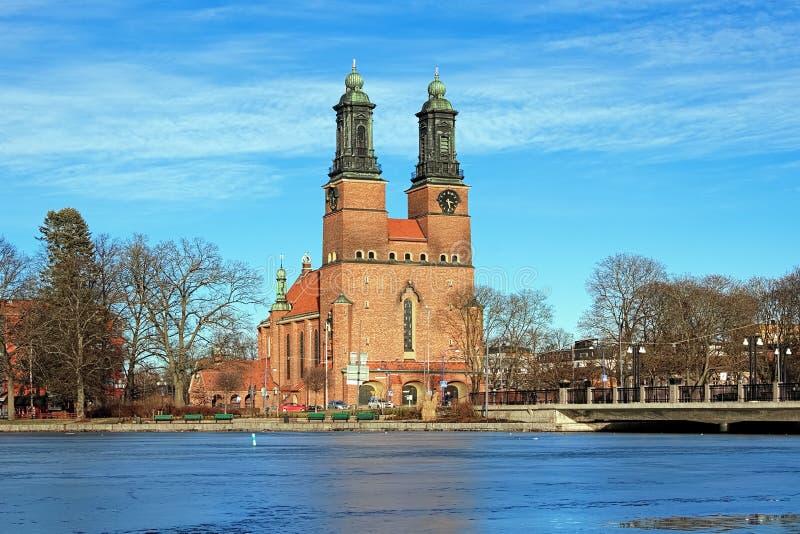 kościół cloisters eskilstuna klosters kyrka zdjęcie royalty free