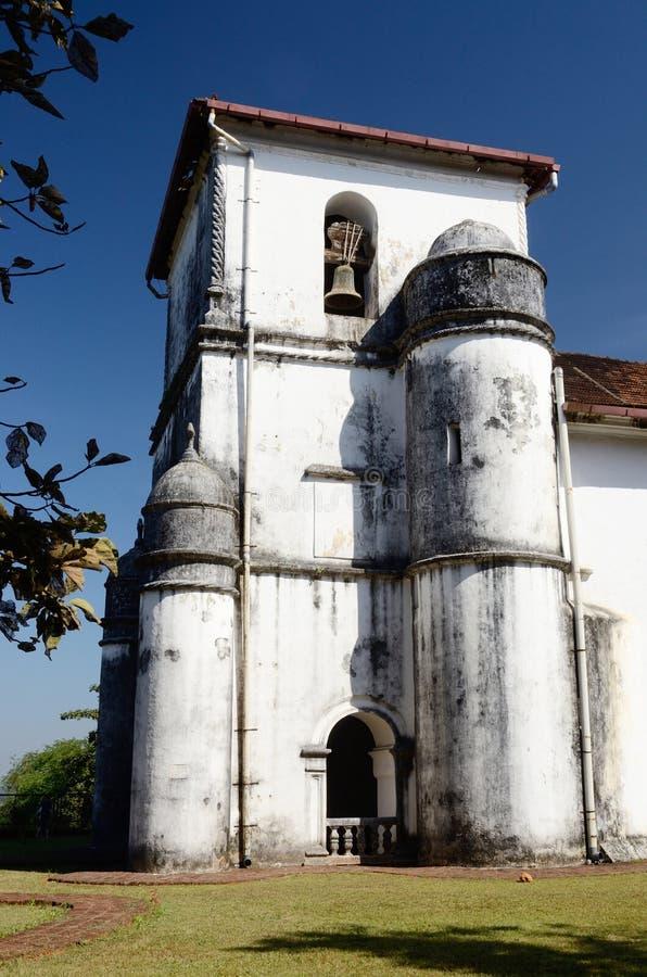 Kościół dama różaniec w Starym Goa, portugalczyk India zdjęcie stock