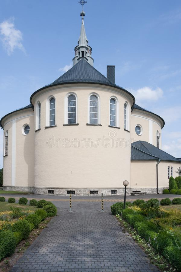 Kościół dedykujący Niepokalany serce Mary w mieście Kolonowskie obraz stock