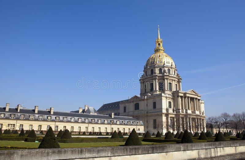 kościół des France hotelowi invalides Paris zdjęcia stock