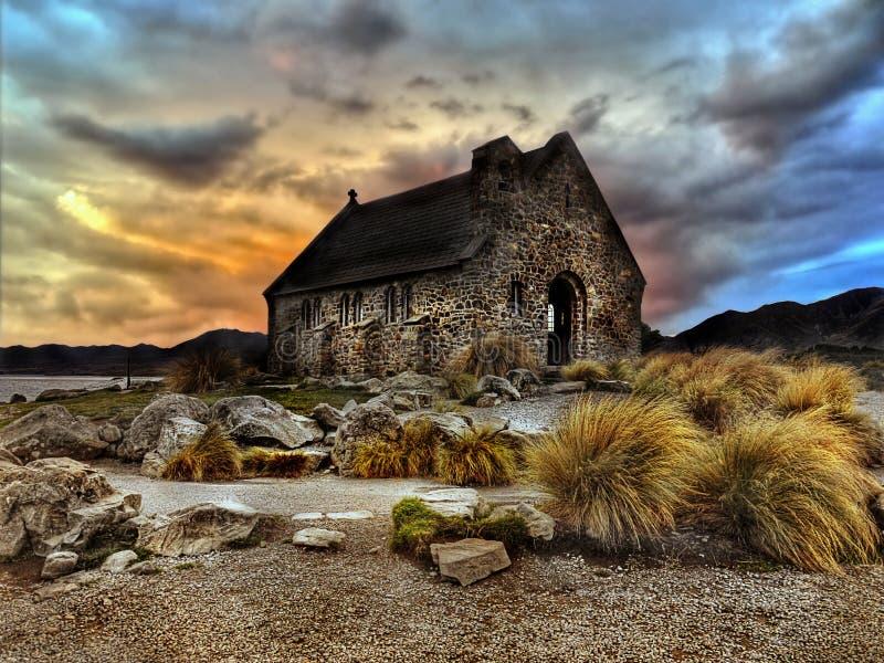 Kościół dobra baca, Nowa Zelandia obraz royalty free