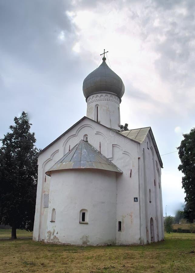 Kościół Dwanaście apostołów na «Propastekh « veliky przypuszczenia novgorod aukcyjny kościelny zdjęcie royalty free