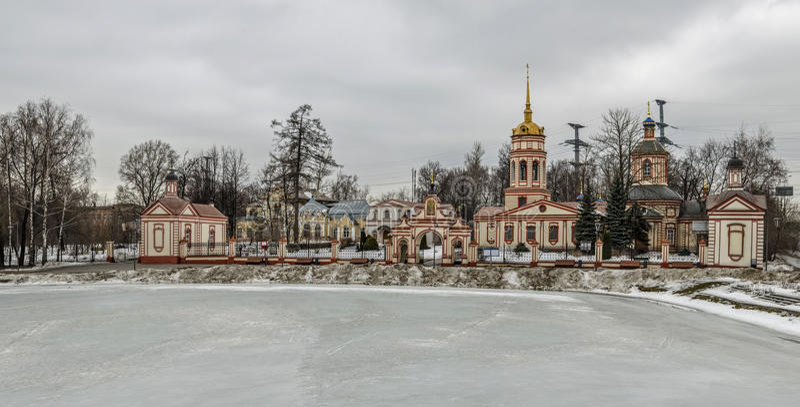 Kościół egzaltacja Święty krzyż, Moskwa, Rosja zdjęcie stock