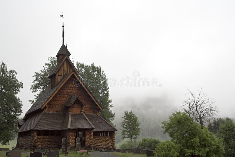 kościół eidsborg pręty stavkirke fotografia stock
